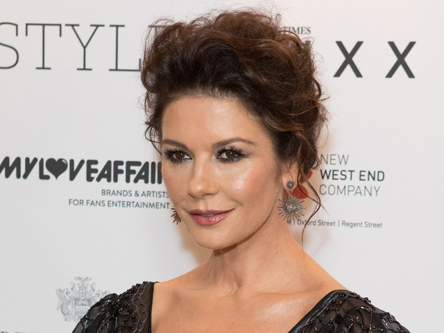 Catherine Zeta-Jones Looks Glam at Walpole British Luxury Awards 2017