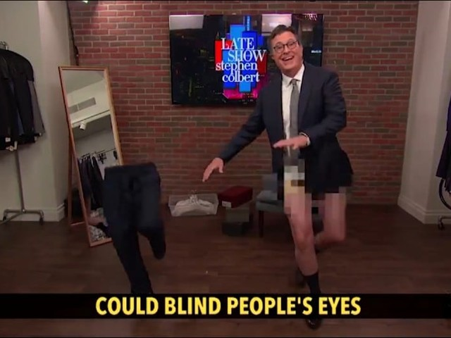 Colbert Celebrates First Studio Audience in 15 Months With His Singing, Dancing Pants (Video)