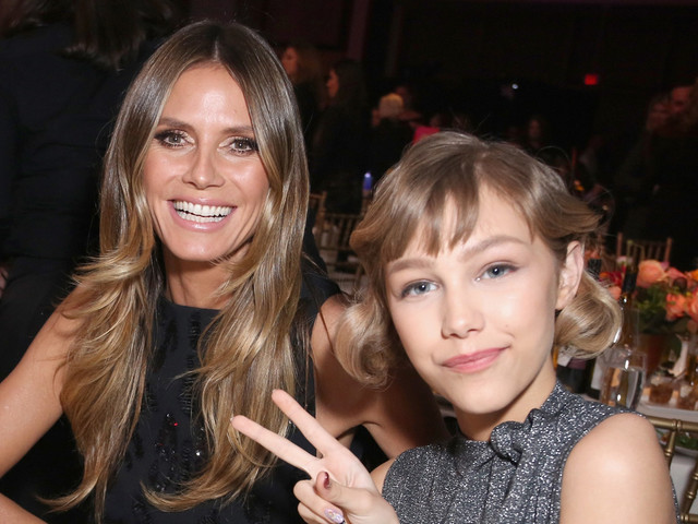 Heidi Klum Honors 'AGT' Winner Grace VanderWaal at Billboard's Women in Music Event