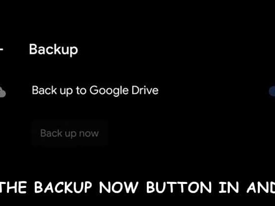 """How to Fix Backup Now Option Under """"Backup to Google Drive"""""""