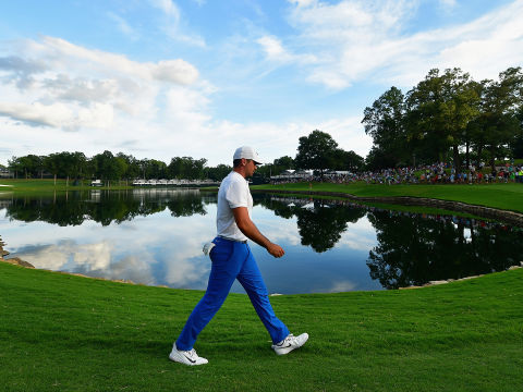 US PGA Championship Diary: Wet Day at Quail Hollow as players take their time