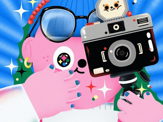 Illustrator 22mm.t plays with pastel colours in her charming images