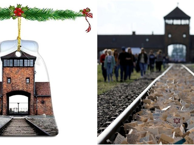 Amazon removed 'disturbing' Christmas ornaments featuring pictures of Nazi concentration camp Auschwitz