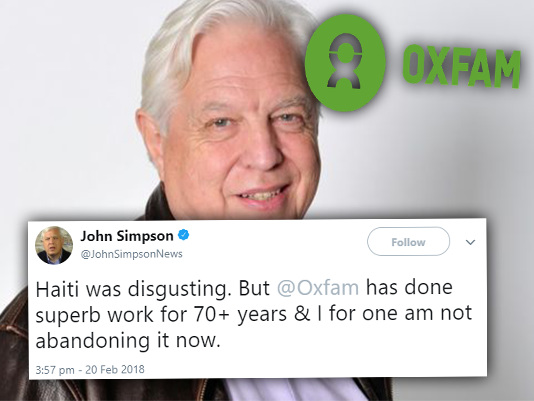 BBC's John Simpson Defends Oxfam