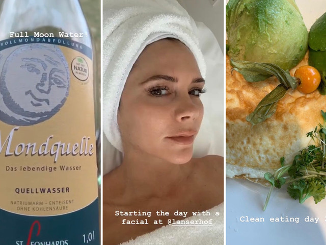 Victoria Beckham's diet of salmon, spinach and moon water at luxury German medical spa revealed