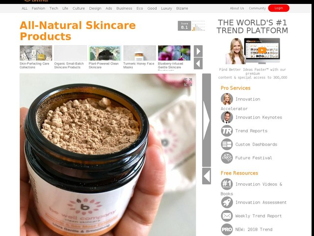 All-Natural Skincare Products - Be Well Company is Dedicated to Wellness with All-Natural Products (TrendHunter.com)