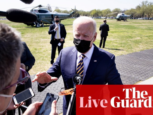 Biden poised to announce all US adults vaccine-eligible by 19 April – US politics live