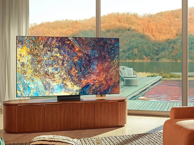 Samsung's Neo QLED is the best flagship TV for bright rooms, but it can't match the infinite contrast of an OLED