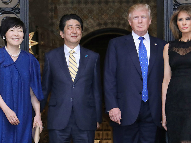 Japan PM's wife 'pretended not to know English' with Trump