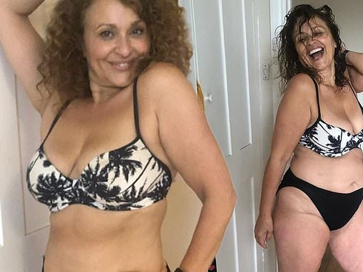 Nadia Sawalha, 55, reveals her life was 'plagued by cellulite' but is now embracing her figure