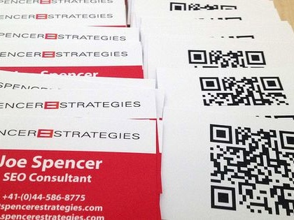 Spencer e-Strategies QR-Code Business Cards - Joe Spencer ...