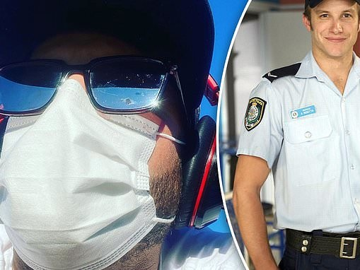 Home and Away star Luke Jacobz wears a mask at the beach as he teases his return to soap
