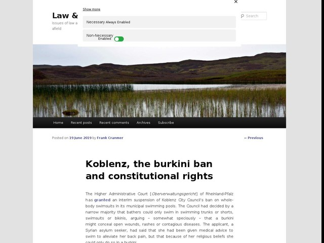 Koblenz, the burkini ban and constitutional rights