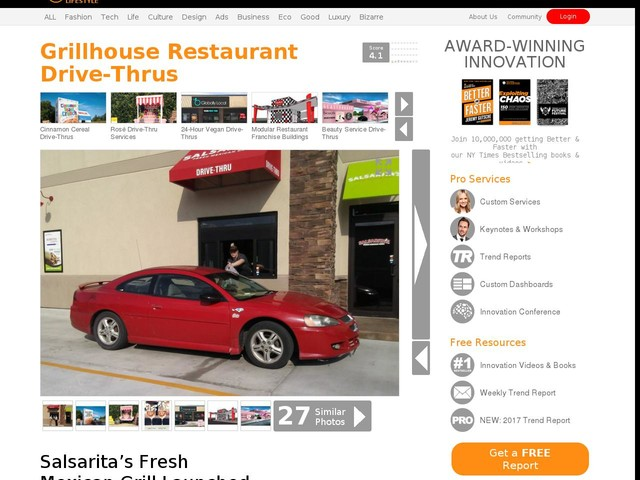 Grillhouse Restaurant Drive-Thrus - Salsarita's Fresh Mexican Grill Launched Its First Drive-Thru (TrendHunter.com)