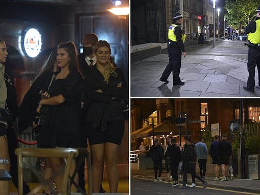 The party's over: Newcastle stragglers sink their final pints before curfew