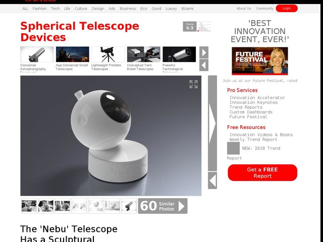 Spherical Telescope Devices - The 'Nebu' Telescope Has a Sculptural Design for Heavenly Observation (TrendHunter.com)