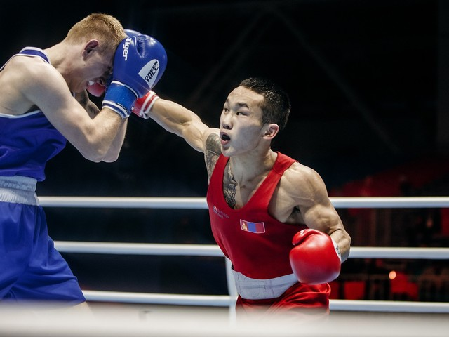 Featherweight Erdenebat too good for Walker at AIBA Men's World Championships