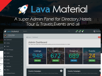 Lava Material - Web Application and Multipurpose Admin Panel Template (Admin Templates)