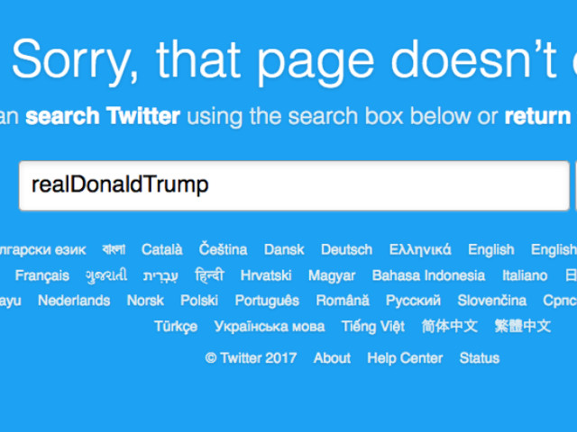 Donald Trump's Twitter Account Vanished for 11 Minutes Thursday Night and It Was Glorious