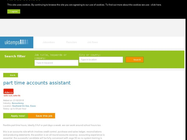 part time accounts assistant