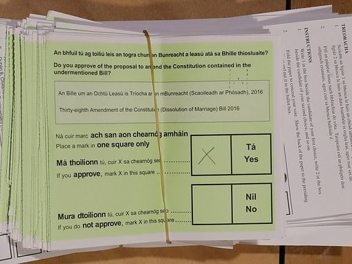 Ireland votes to ease restrictions on divorce
