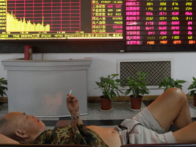 Stocks are falling after a fresh set of horrible data out of China reignited worries about the global economy