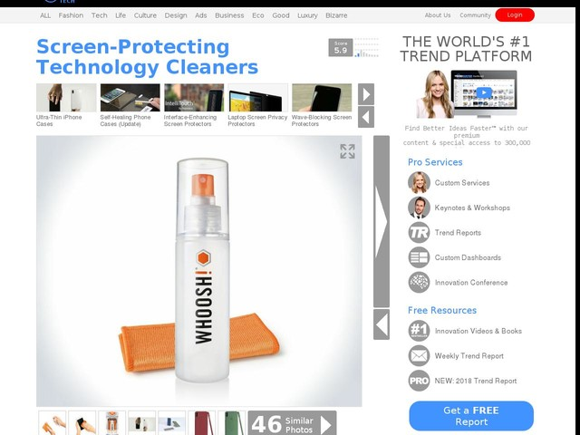 Screen-Protecting Technology Cleaners - The WHOOSH! Screen Cleaner is Made with a Blend of Polymers (TrendHunter.com)