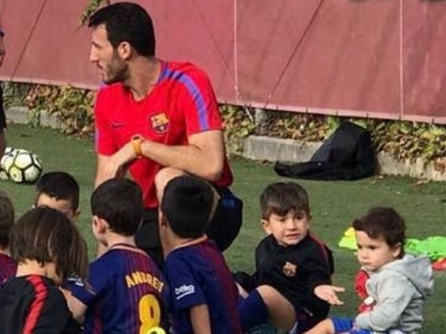 Superstar's building a dynasty as Lionel Messi's sons start training at Barcelona