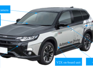 Mitsubishi Electric field testing xAUTO autonomous-driving vehicle on expressways