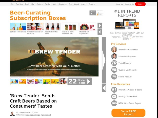 Beer-Curating Subscription Boxes - 'Brew Tender' Sends Craft Beers Based on Consumers' Tastes (TrendHunter.com)