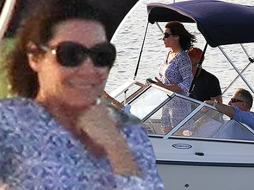 Luann de Lesseps enjoys some rest and relaxation on a sunset cruise with friends in The Hamptons