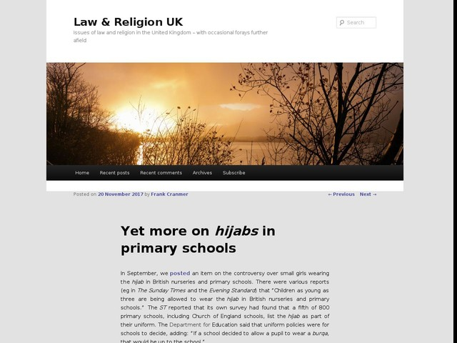 Yet more on hijabs in primary schools