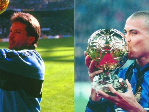 Ronaldo Nazario and Lothar Matthäus in France Football's First Team All-Time Ballon d'Or XI