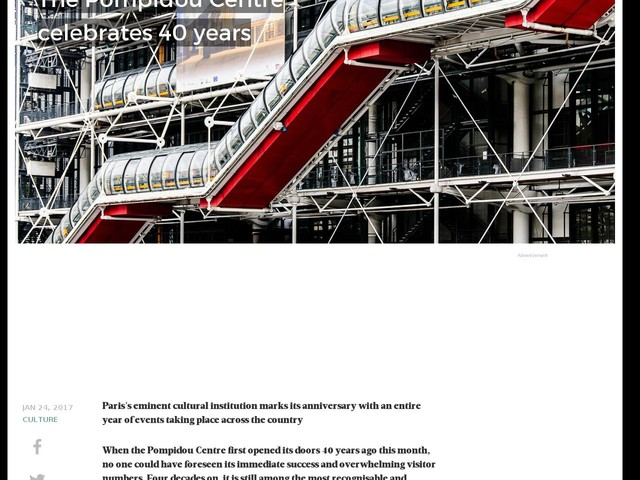 The Pompidou Centre celebrates 40 years