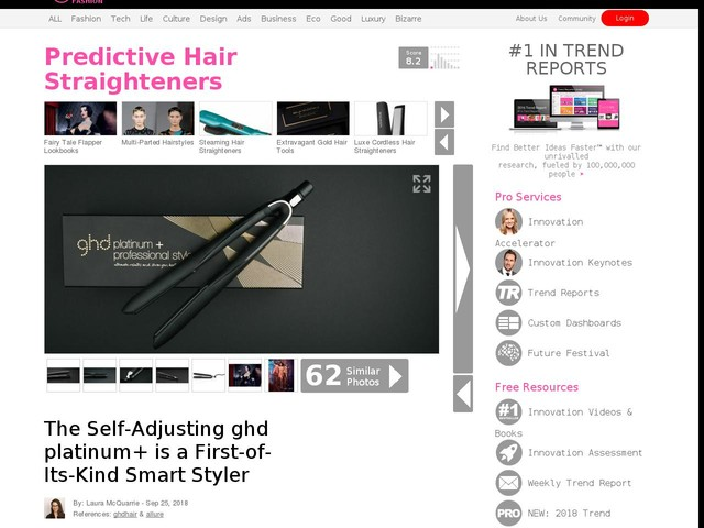 Predictive Hair Straighteners - The Self-Adjusting ghd platinum+ is a First-of-Its-Kind Smart Styler (TrendHunter.com)