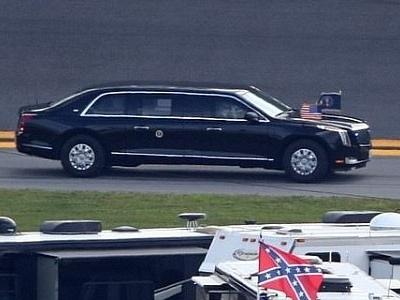 Donald Trump Brings The Beast to Daytona 500 for Historical Lap