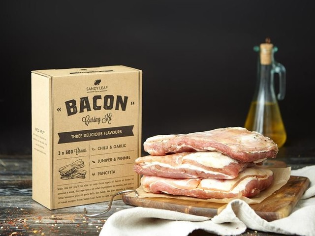 DIY Artisan Bacon Kits - The Sandy Leaf Bacon Curing Kit is Simple to Follow and Use (TrendHunter.com)