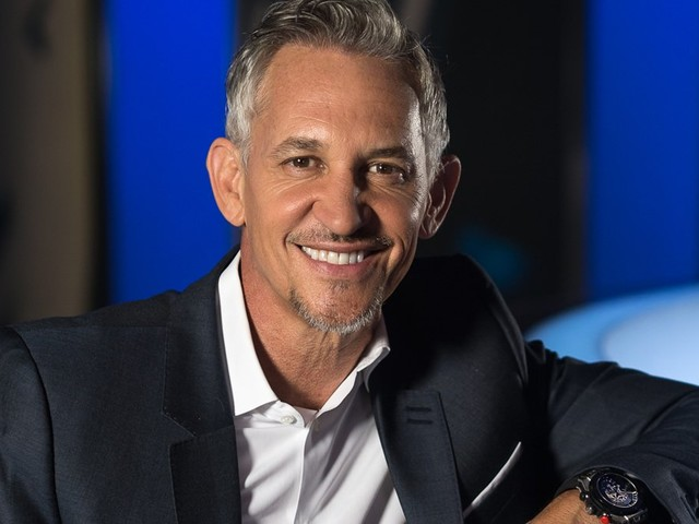 Gary Lineker reacts to Mo Salah's goal in Liverpool FC's 4-3 win over Crystal Palace