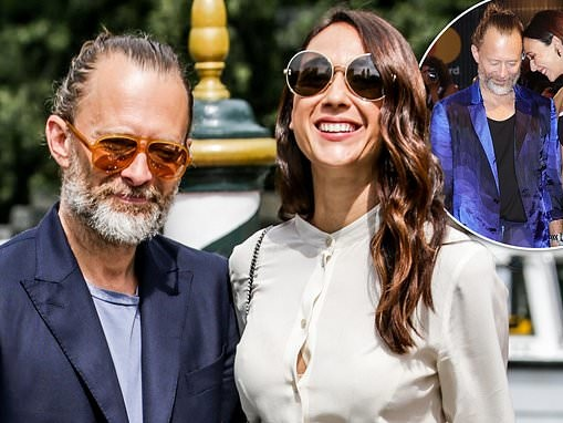 Radiohead's Thom Yorke, 51, marries his girlfriend of three years Dajana Roncione, 36, in Sicily