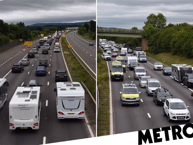 Packed roads in south-west England as holidaymakers flock on 'Super Saturday'