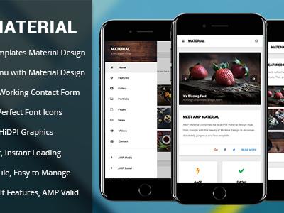 AMP Material | Mobile Google AMP Template (Mobile)