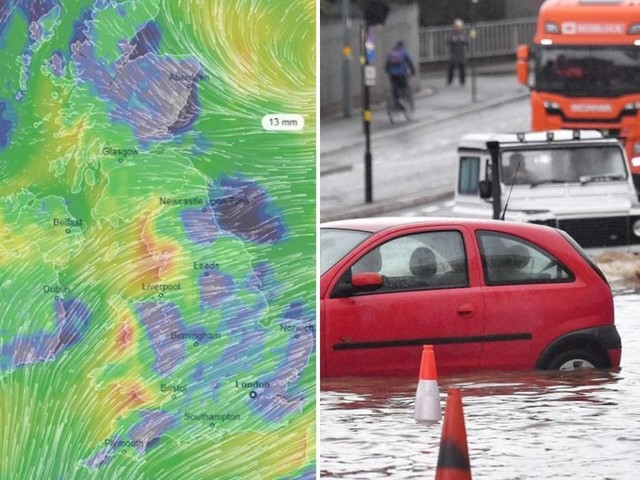 UK weather forecast – Met Office warns heavy rain could FLOOD homes and spark power cuts in a weekend washout