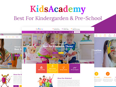 KidsAcademy - Kids, Kindergarten & Preschool WordPress Theme (Children)