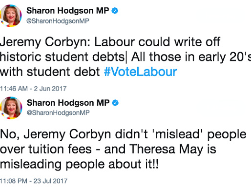 "Corbynistas DID Tell Students ""Vote Labour"" to Get Debts Written Off"