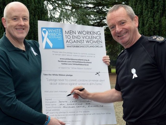 Backing for White Ribbon campaign to end gender-based violence