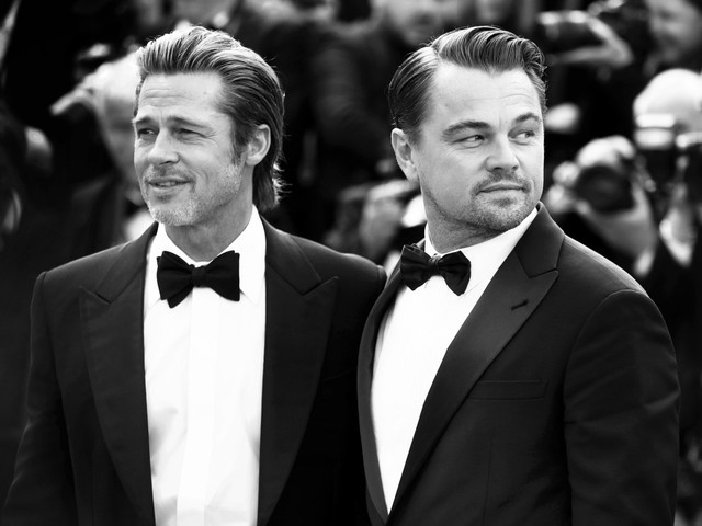 Brad Pitt & Leo DiCaprio geeked out when they met Luke Perry on 'OUATIH'