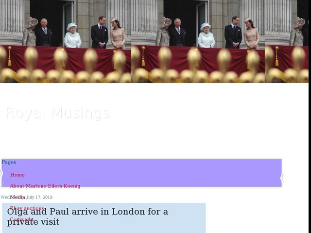 Olga and Paul arrive in London for a private visit