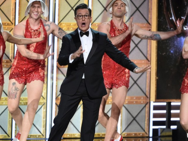 Stephen Colbert went after Trump in his Emmys opener, and gave us some song and dance