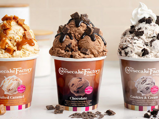 Restaurant Brand Ice Creams - The Cheesecake Factory at Home Ice Cream is Now in Grocery Stores (TrendHunter.com)