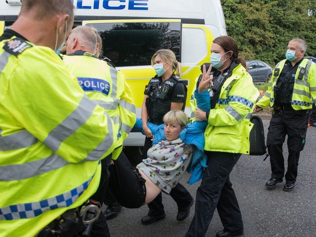 12 Insulate Britain Activists Arrested After Blocking M25 For Climate Protest